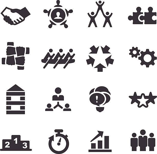 Teamwork-Icons-Acme Series – Vektorgrafik