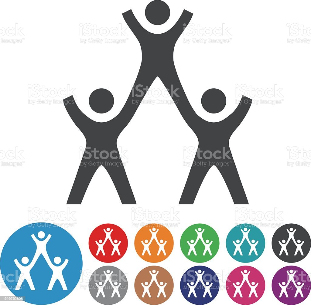 Teamwork Icons - Graphic Icon Series vector art illustration