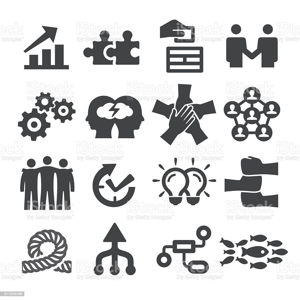 Teamwork Icons Set - Acme Series vector art illustration