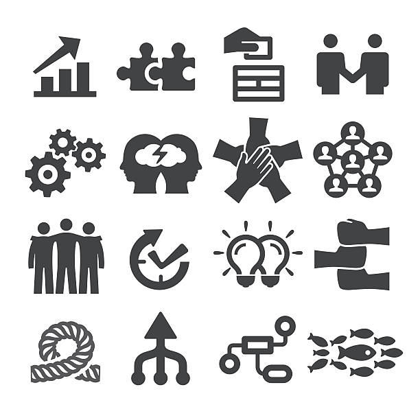Teamwork Icons Set - Acme Series vector art illustration