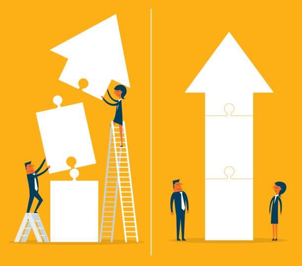 teamwork - illustration - entrepreneurship stock illustrations