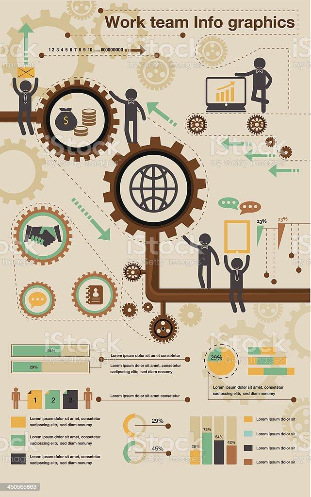 Teamwork info graphics royalty-free stock vector art