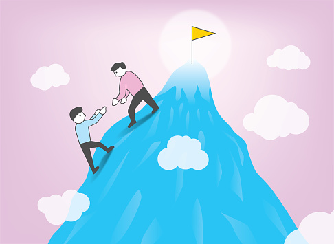 Teamwork leadership motivation common goal work together to achieve