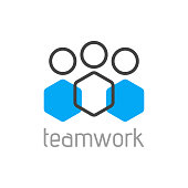 Teamwork logo concept. Team person symbol. Vector
