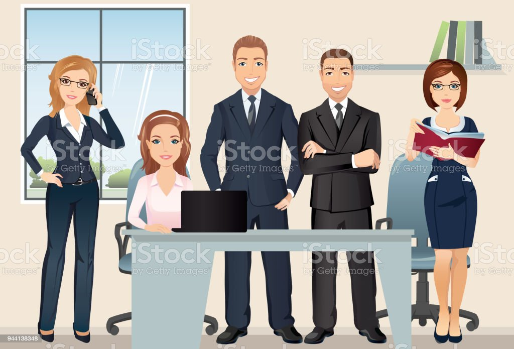 Teamwork Meeting Business People Office Team Discussing And