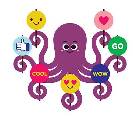 Teamwork Motivation Inspiration Support Encouragement Octopus Cheerleader