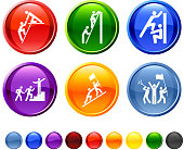 Teamwork Obstacles icon set