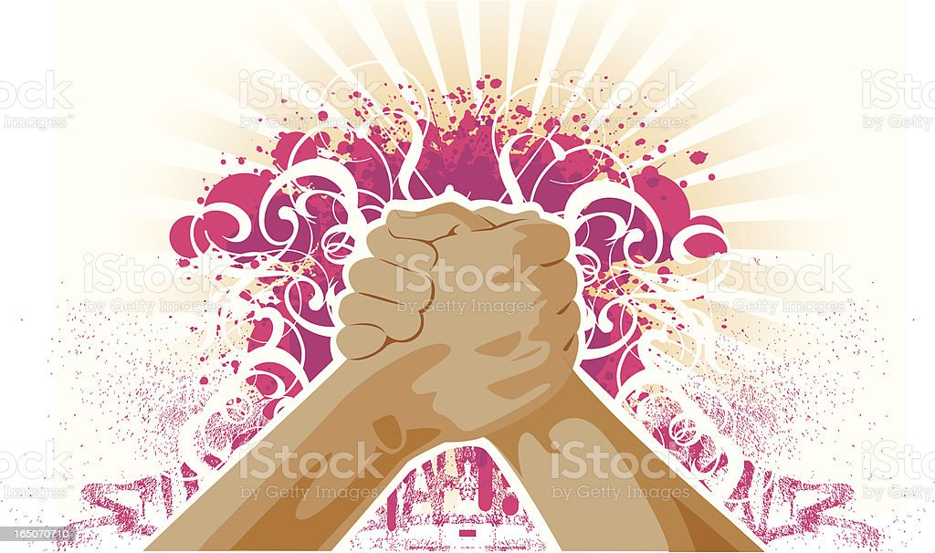 teamwork of young generation royalty-free stock vector art