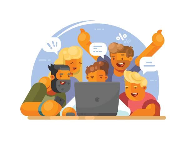 illustrations, cliparts, dessins animés et icônes de travail d'équipe sur le projet - twerk