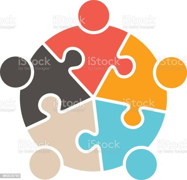 Teamwork people five puzzle pieces vector graphic design vector id680526792?b=1&k=6&m=680526792&s=612x612&h=p3bpltm27hy7utk2rxbby8favh4i5hzxcfue ixhqco=