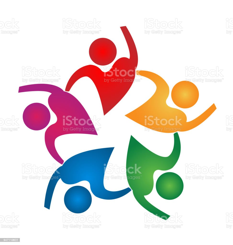 teamwork people love heart shape design icon vector template arte