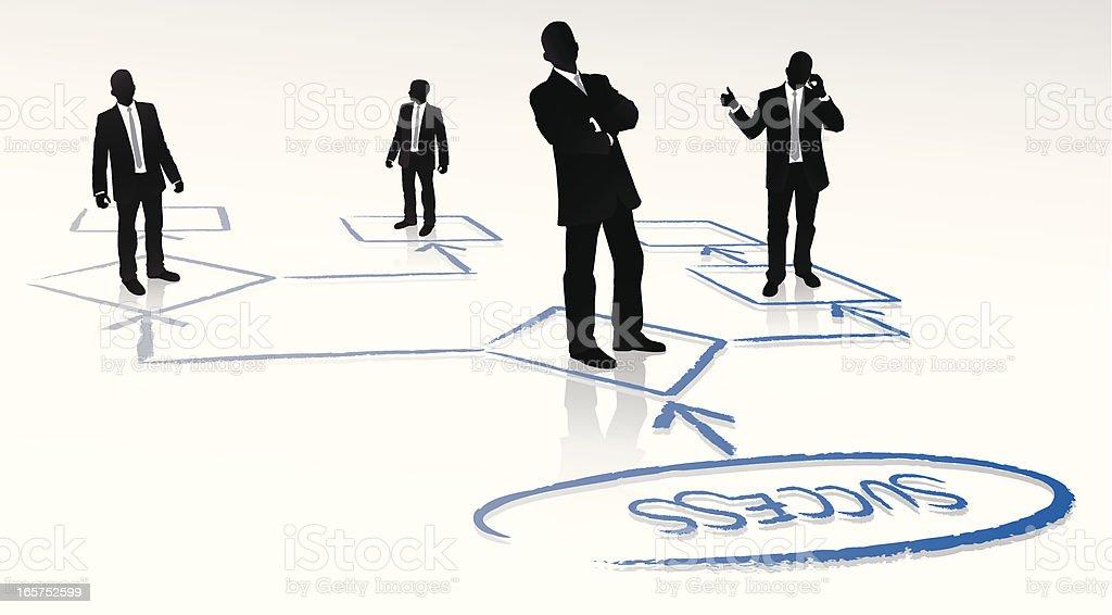 Teamwork Planning royalty-free stock vector art