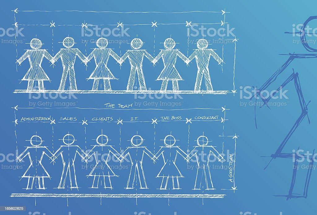 Teamwork project royalty-free stock vector art