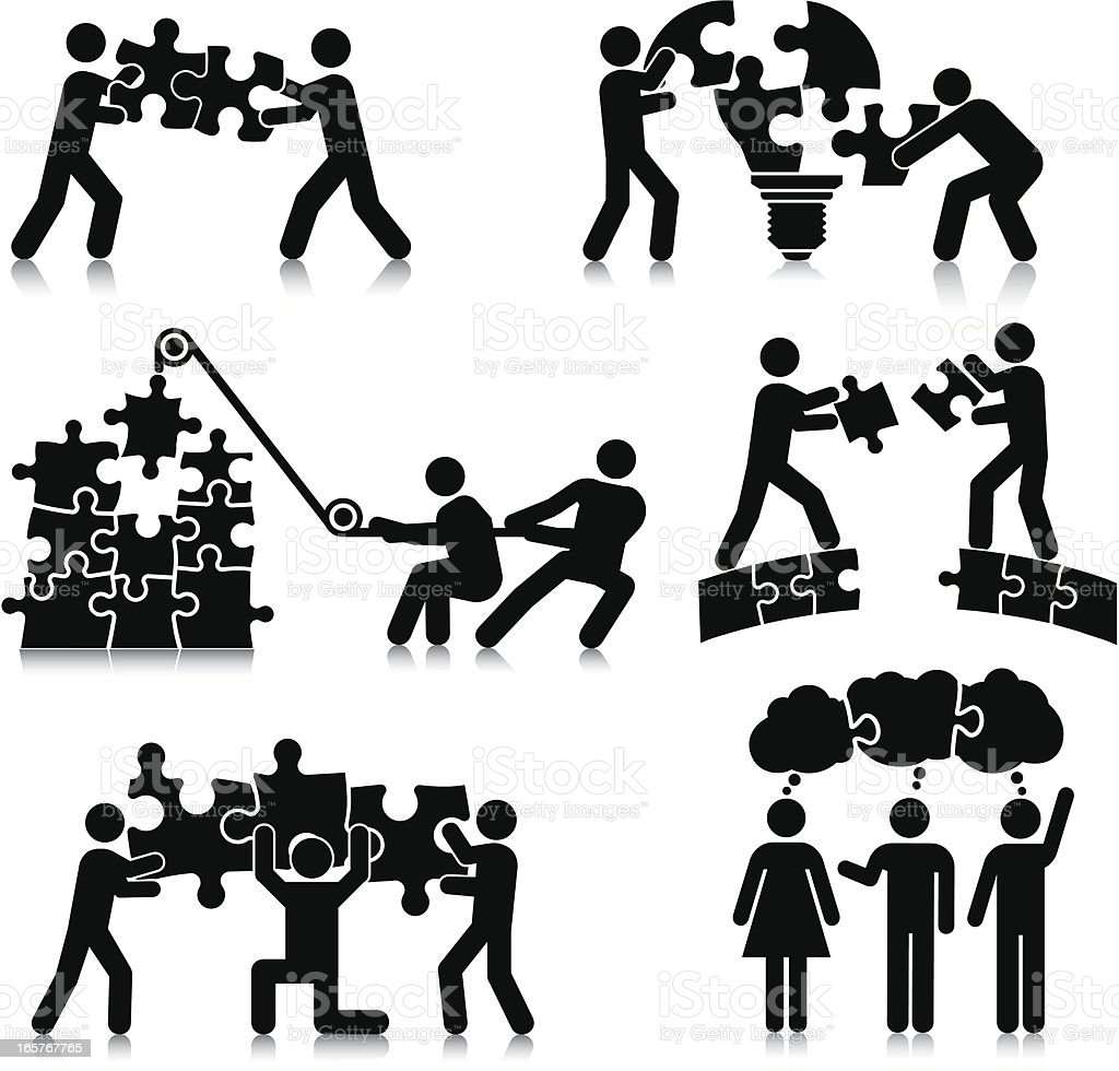 Teamwork Puzzle royalty-free teamwork puzzle stock vector art & more images of arranging
