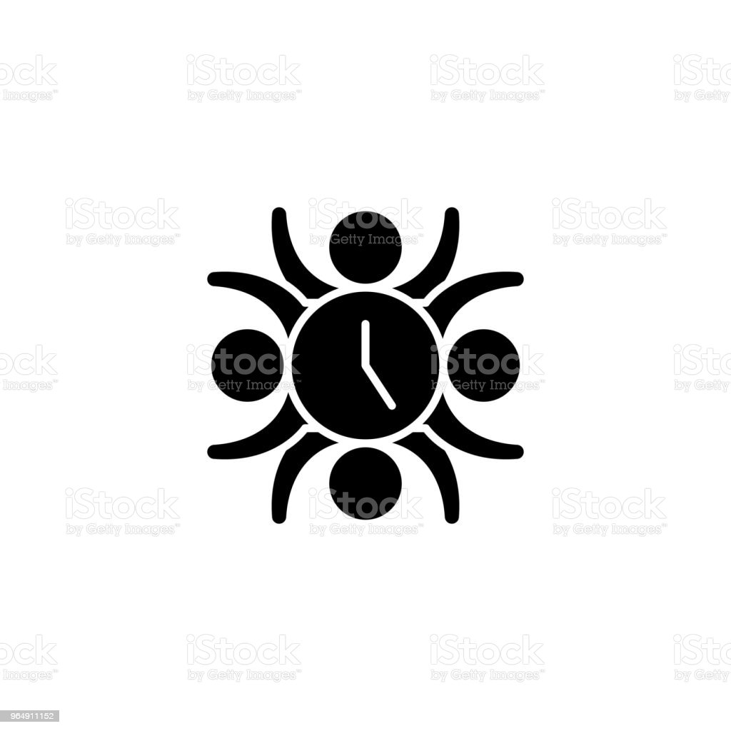 Teamwork skills black icon concept. Teamwork skills flat  vector symbol, sign, illustration. royalty-free teamwork skills black icon concept teamwork skills flat vector symbol sign illustration stock vector art & more images of adult