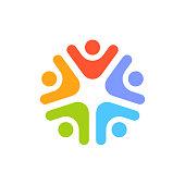 Teamwork Social Network icon. Vector Graphic Illustration stock illustration