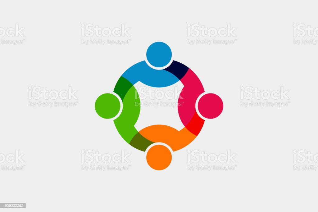Teamwork Social Network icon. Vector Graphic Illustration - Royalty-free Abstract stock vector