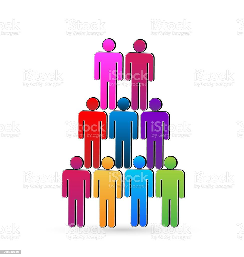 Teamwork social networking people unity concept business icon id card vector - Royalty-free Assistance stock vector