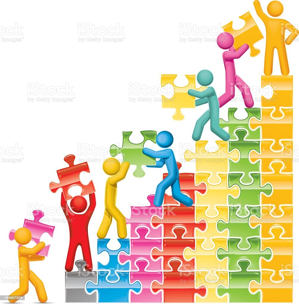 Teamwork Steps royalty-free stock vector art