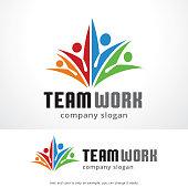 Teamwork Symbol Template Design Vector, Emblem, Design Concept, Creative Symbol, Icon