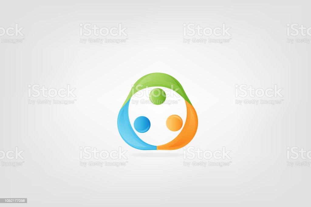 Logo Carte De Visite Travail Dequipe Lunite Personnes Identite