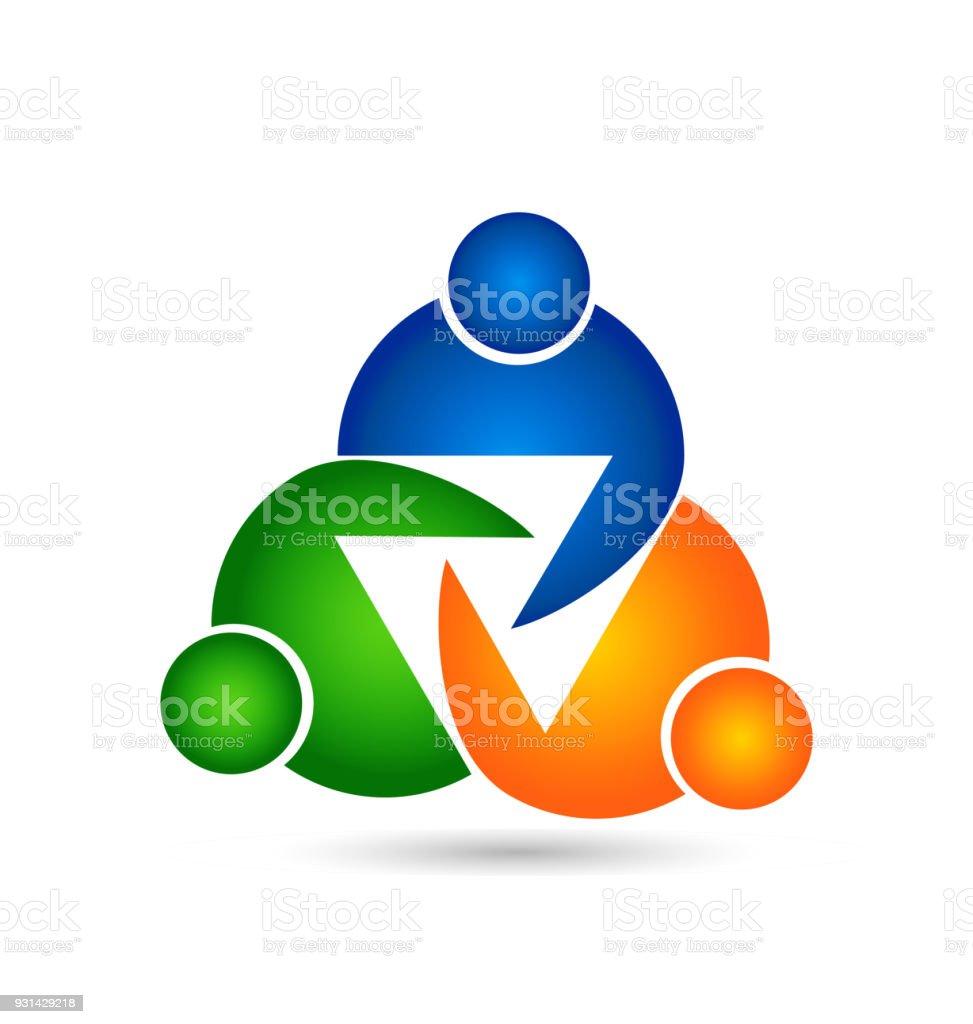 Teamarbeit Einheit Studie Menschen Design Vorlage Vektor Symbolbild ...