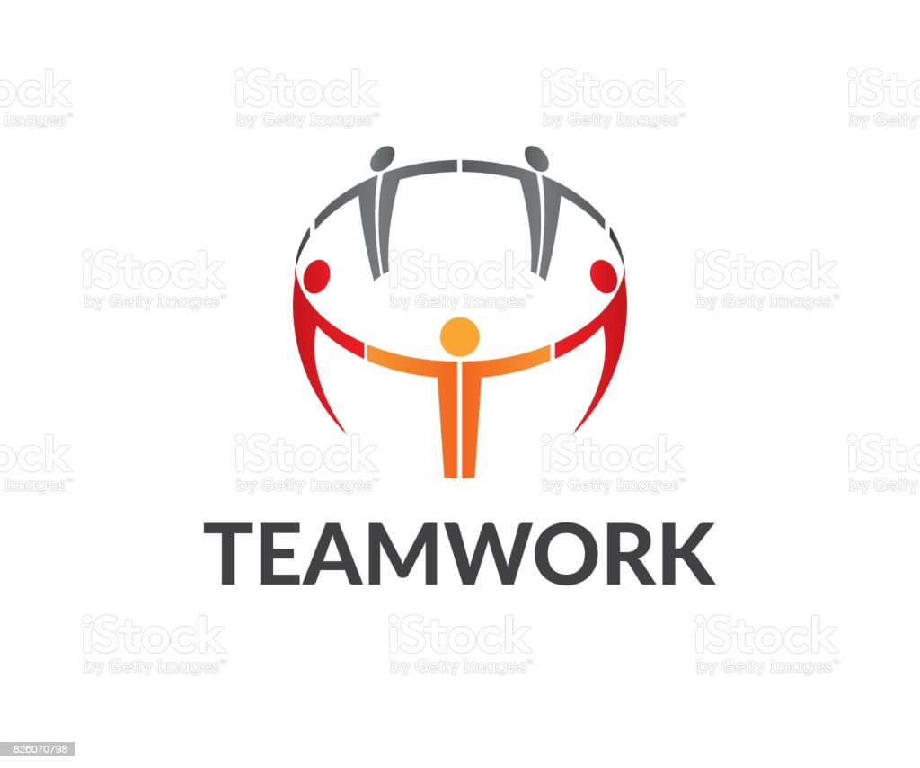 Teamwork vector icon vector art illustration