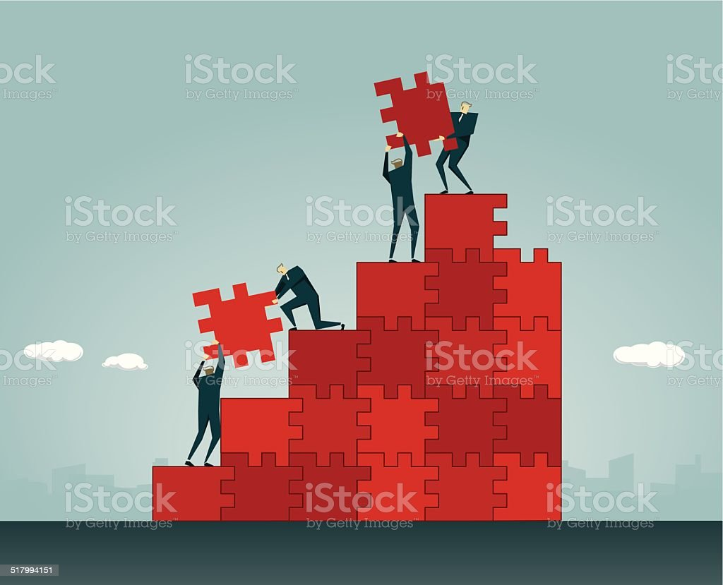 Teamwork (Teamarbeit) – Vektorgrafik