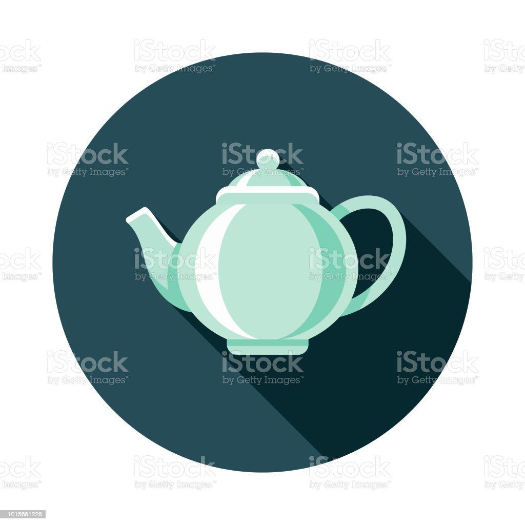 Teapot Flat Design Breakfast Icon vector art illustration