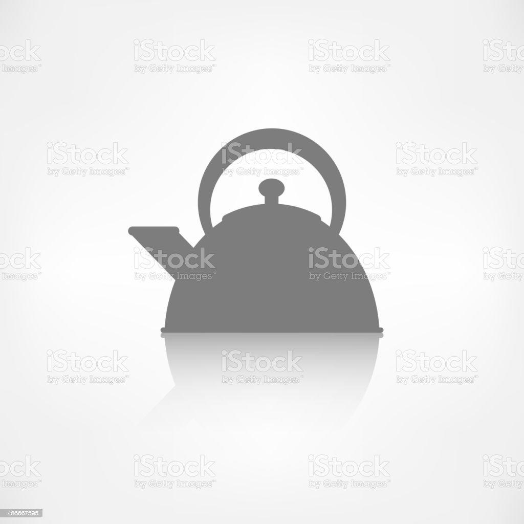 teapot icon. coffee pot symbol royalty-free stock vector art
