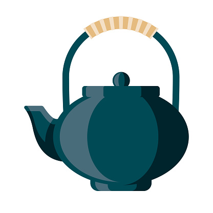 Teapot Icon on Transparent Background