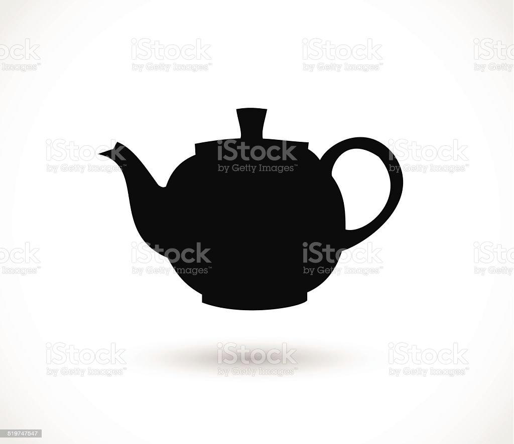 Teapot icon vector vector art illustration