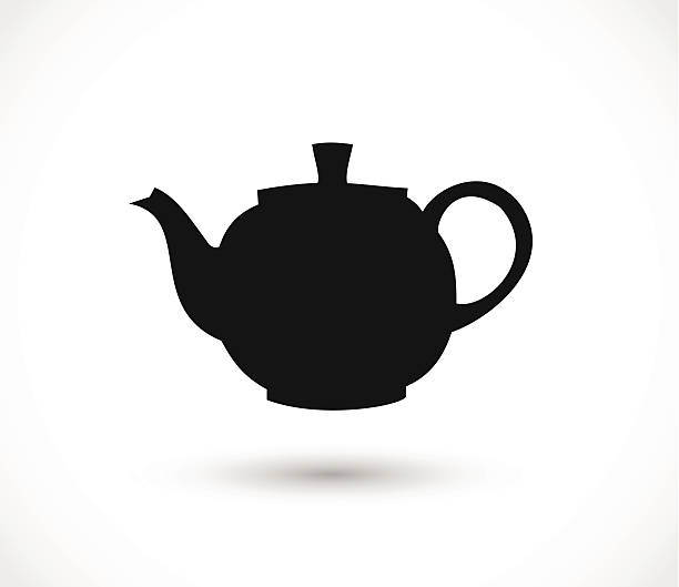 Teapot icon vector Teapot icon vector teapot stock illustrations