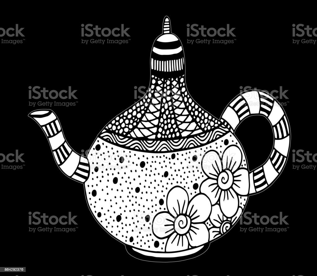 Teapot isolated vector - Illustration - Illustration Breakfast, Drawing - Activity, Food, Ink, Backgrounds royalty-free teapot isolated vector illustration illustration breakfast drawing activity food ink backgrounds stock vector art & more images of backgrounds
