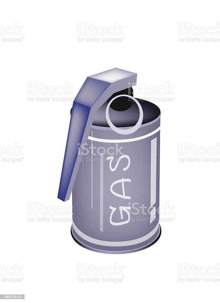 Tränengas Granatwerfer, auf weißem Hintergrund. – Vektorgrafik