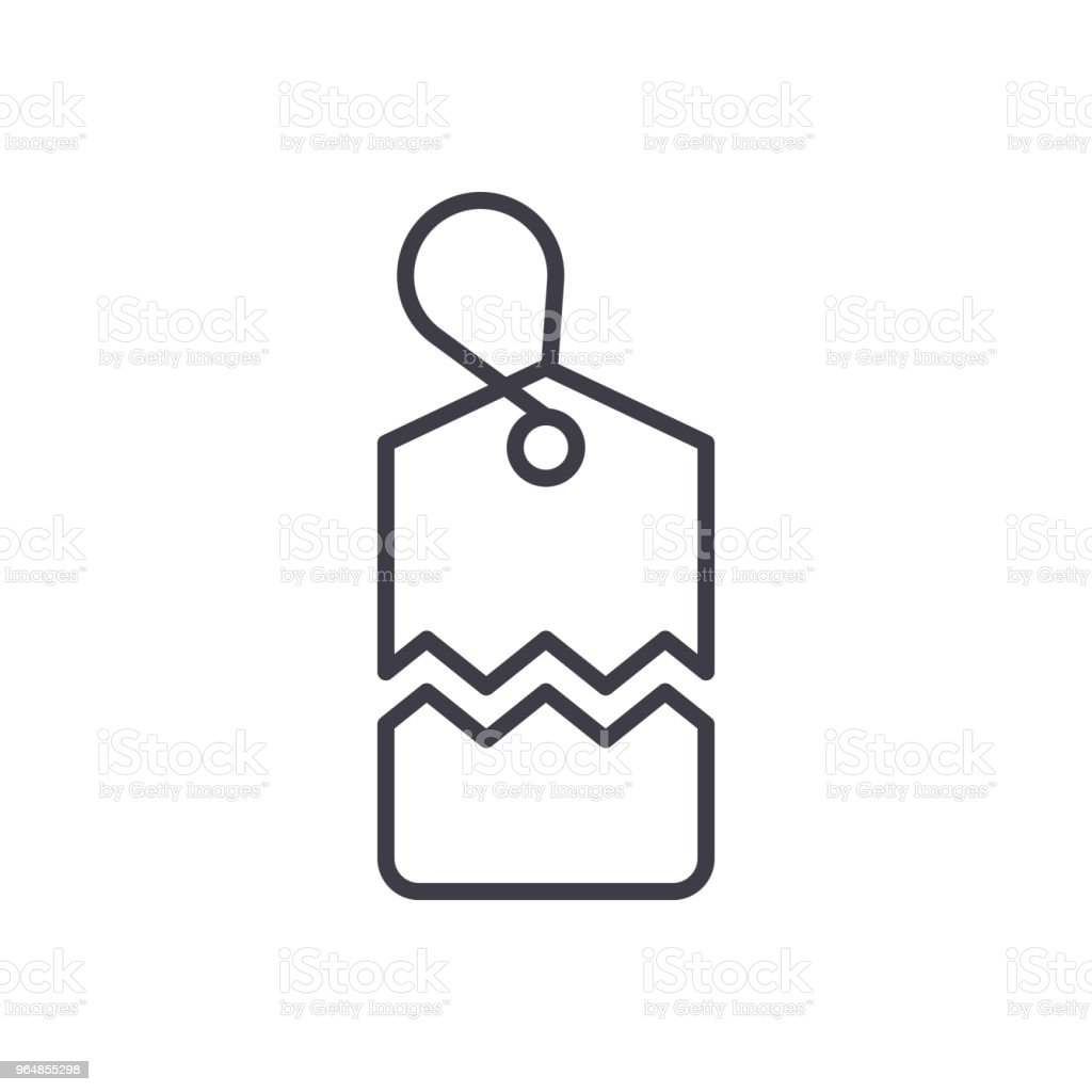 Tear off coupon black icon concept. Tear off coupon flat  vector symbol, sign, illustration. royalty-free tear off coupon black icon concept tear off coupon flat vector symbol sign illustration stock vector art & more images of art