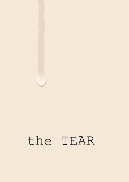 stockillustraties, clipart, cartoons en iconen met scheuren, huilen op de witte plaat, een concept van verdriet en lijden. vector achtergrond met traan - funeral crying