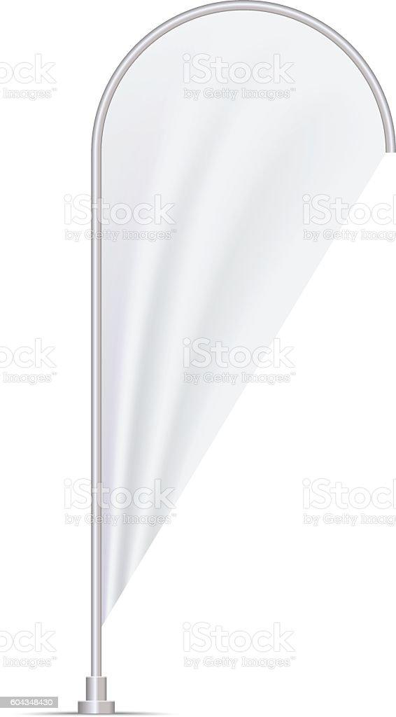Teardrop Flag Mockup Stock Vector Art & More Images of Backgrounds ...
