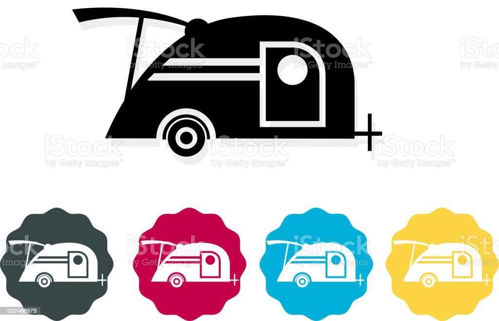 Teardrop Trailer Icon Royalty Free Stock Vector Art Amp More Images