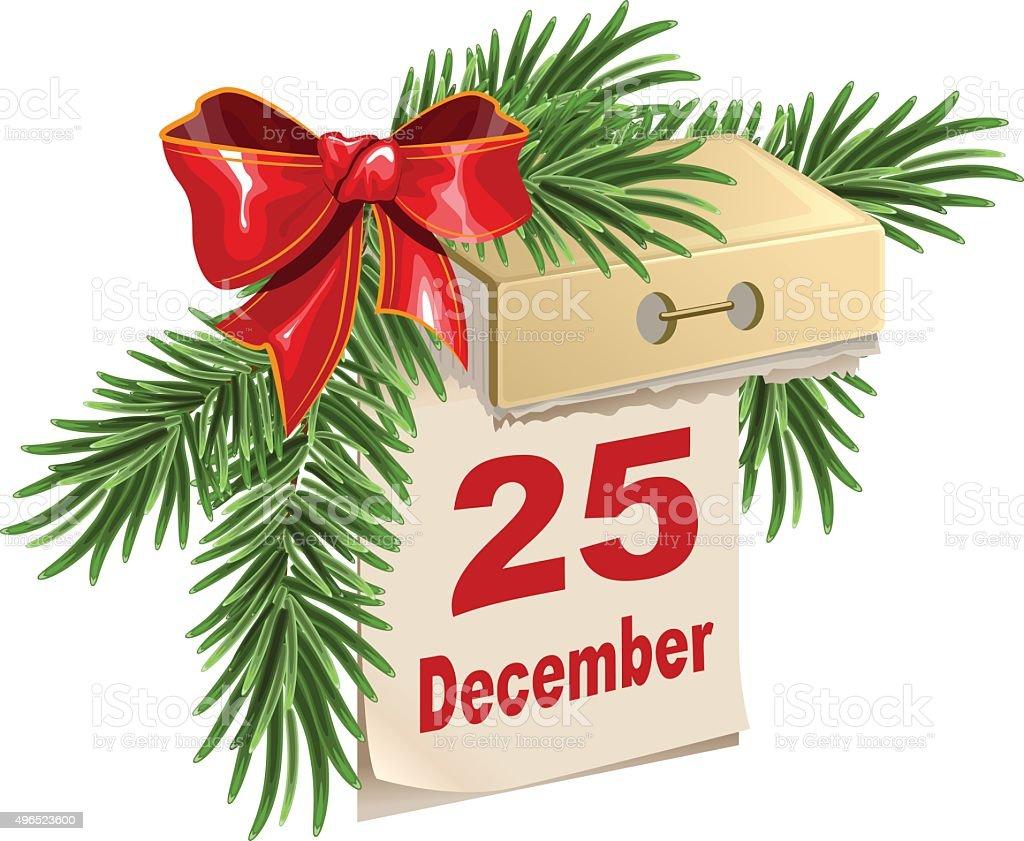 日めくりカレンダーの 12 月 25 ...