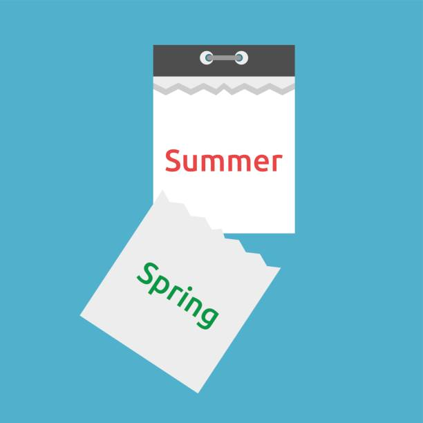 Abreißkalender, Frühling, Sommer – Vektorgrafik