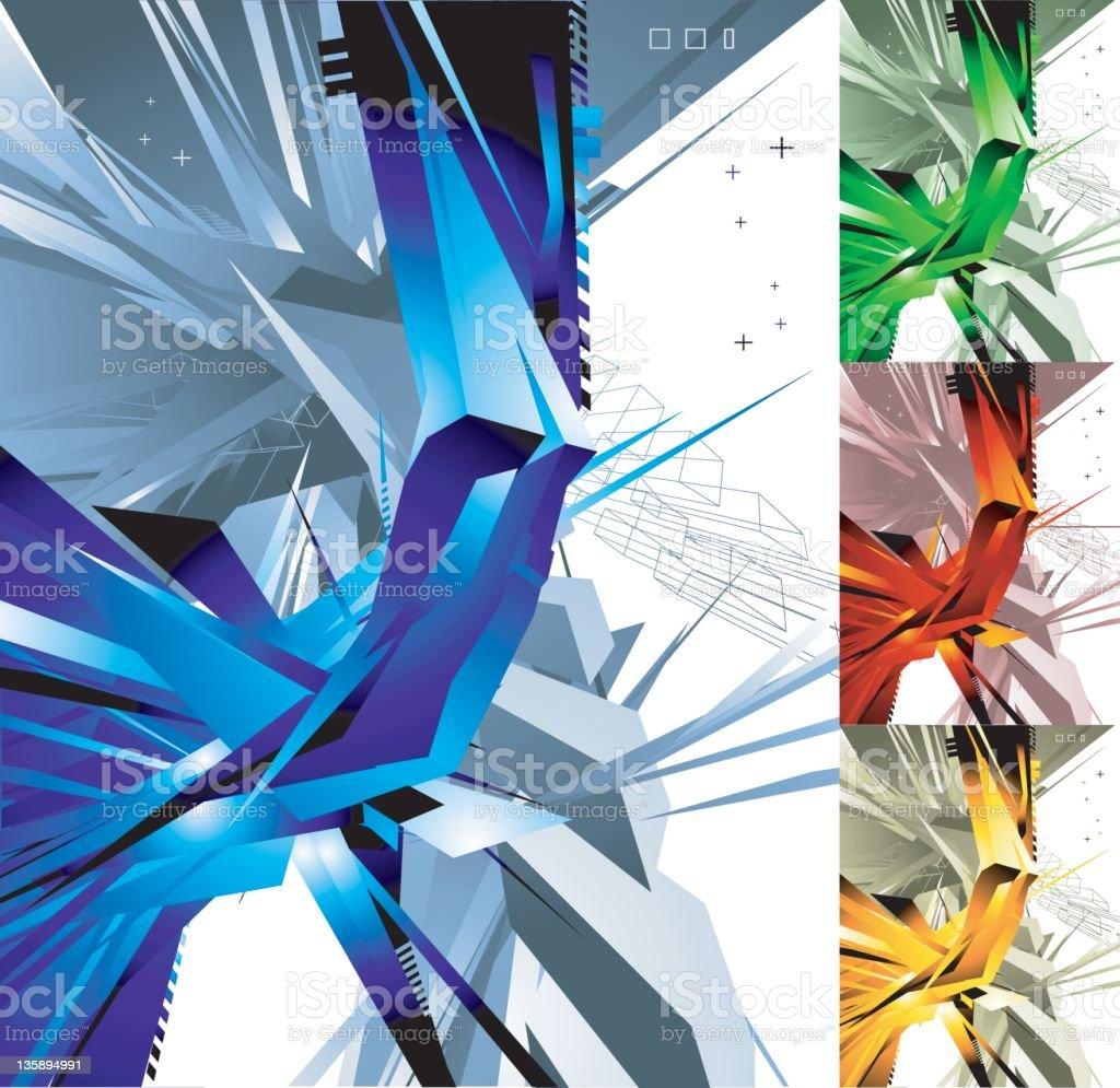 tech background (vector) royalty-free stock vector art
