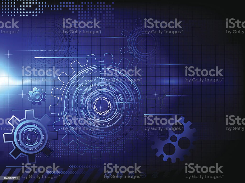 Tech background royalty-free stock vector art
