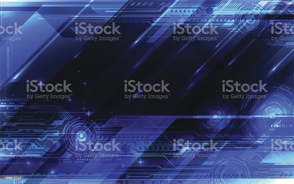 Tech blue abstraction. royalty-free tech blue abstraction stock vector art & more images of abstract