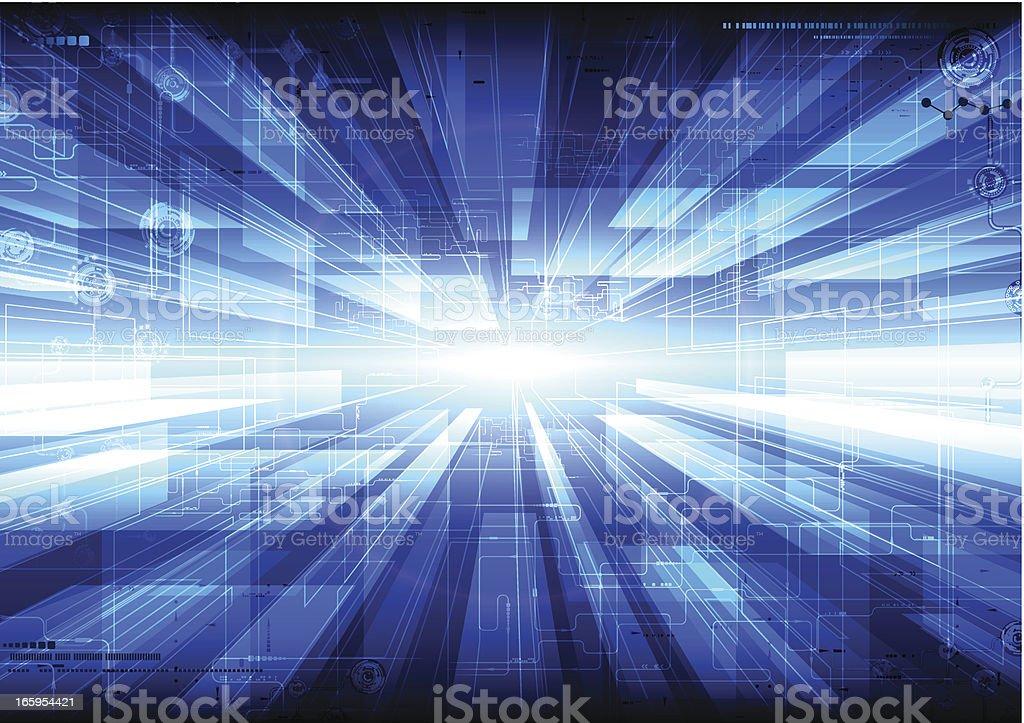 Tech composition. vector art illustration