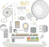 Tech design elements (vector & jpeg)