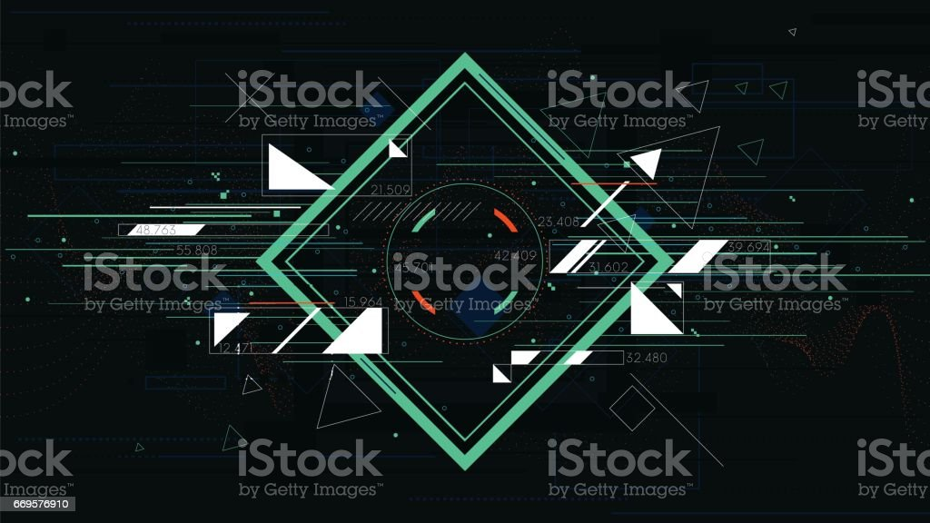 Tech futuristic abstract backgrounds, colorful square vector art illustration