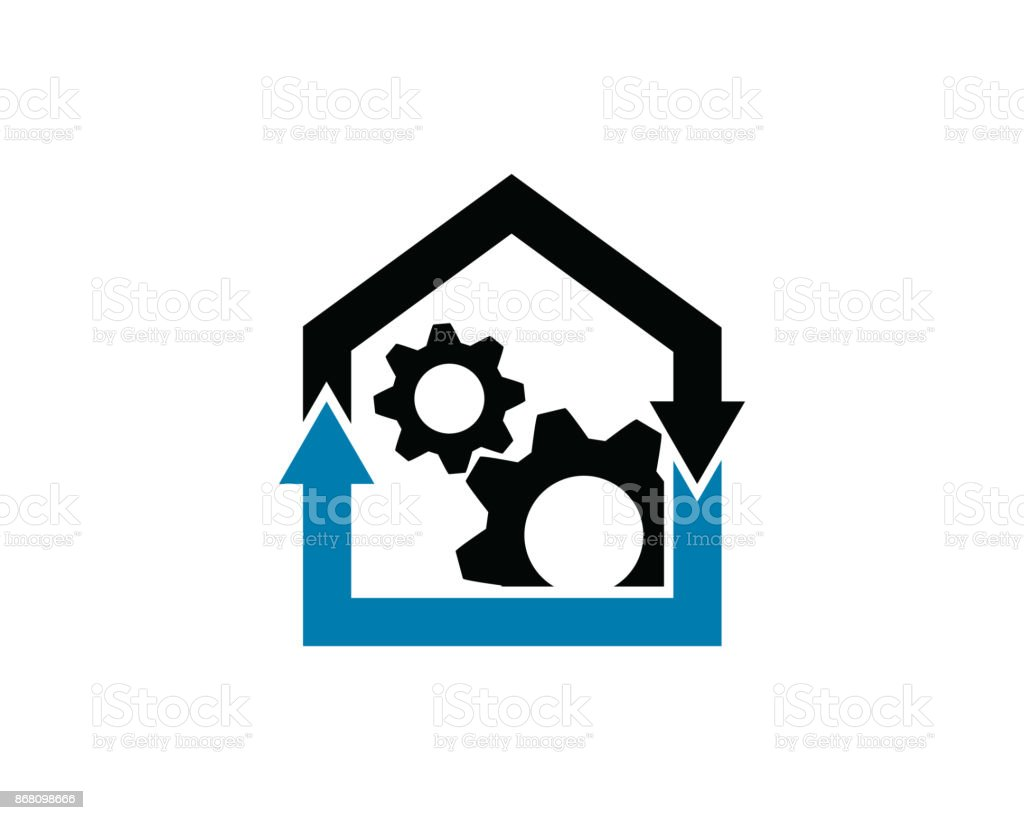 Tech House Symbol Template Design Vector Emblem Design Concept