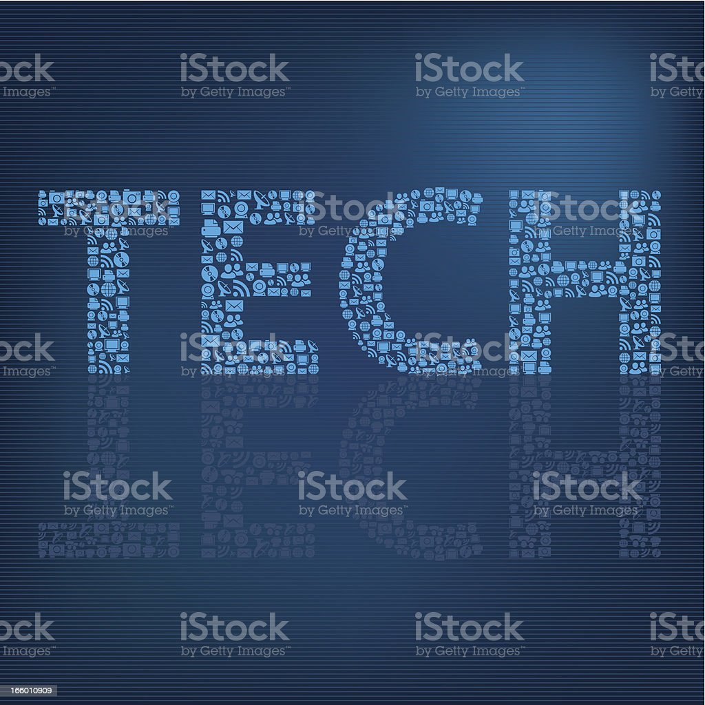 Tech icons background royalty-free stock vector art