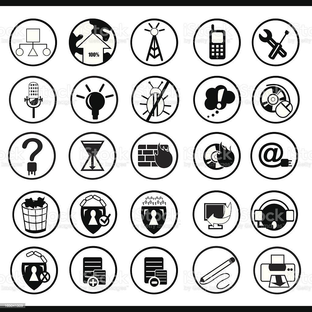 Tech Icons Set (Black) royalty-free stock vector art